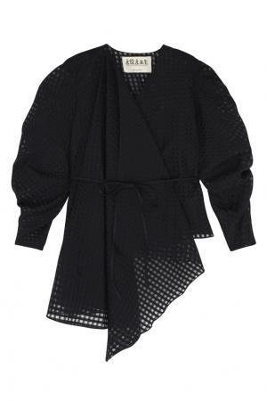Хлопковая блузка A.W.A.K.E.. Цвет: черный