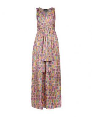 Длинное платье BOUTIQUE MOSCHINO. Цвет: розовый
