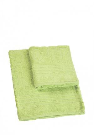 Комплект полотенец 2 шт. La Pastel. Цвет: зеленый