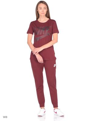 Футболка W NSW TEE GLACIER Nike. Цвет: красный, черный