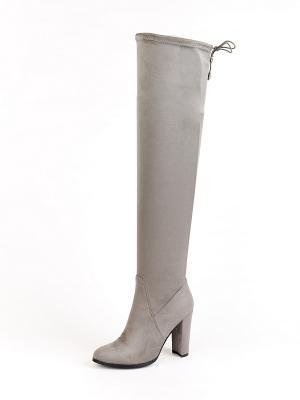 Ботфорты Elite Style. Цвет: серый, бледно-розовый