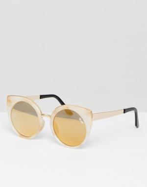 Quay Australia Белые солнцезащитные очки кошачий глаз с мраморным эффектом Austr. Цвет: белый