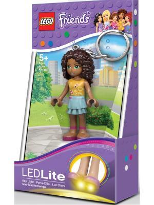 Брелок-фонарик для ключей LEGO FRIENDS - Andrea. Цвет: темно-коричневый, хаки, светло-голубой, светло-коричневый