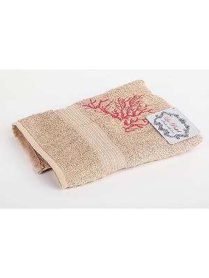 Комплект полотенец 2 предмета (50х90,70х140) Коралл La Pastel. Цвет: бежевый
