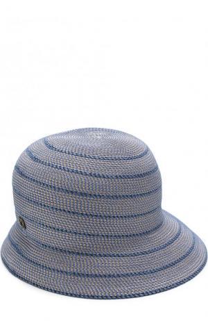 Шляпа с контрастной отделкой Eric Javits. Цвет: голубой