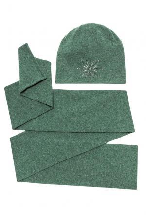 Комплект из шерсти в кристаллах Swarovski (шапка и шарф) 154743 Anna Jollini