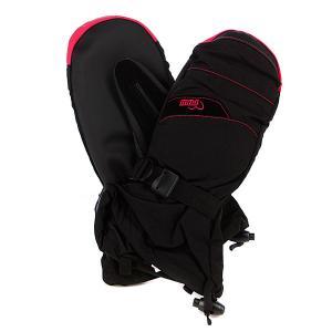 Варежки сноубордические женские  Xg Long Mitt Black Pow. Цвет: розовый,черный