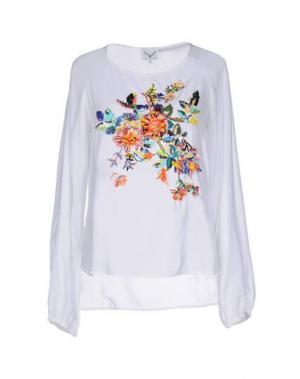 Блузка LEITMOTIV. Цвет: белый