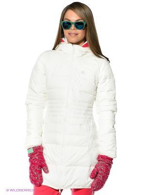 Пальто утепленное Premium Adidas. Цвет: белый