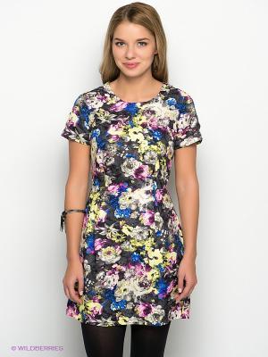 Платье New Look. Цвет: желтый, синий, темно-серый