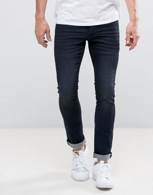 Solid Эластичные джинсы скинни. Цвет: синий