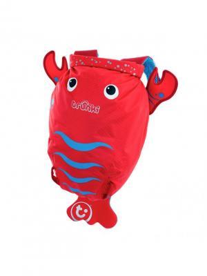 Рюкзак для бассейна и пляжа ЛОБСТЕР TRUNKI. Цвет: голубой, красный