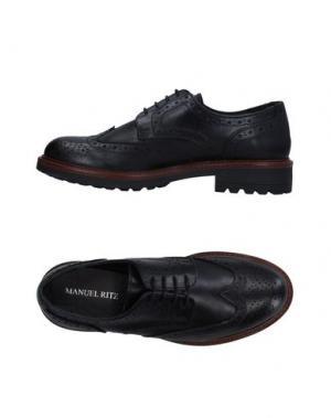 Обувь на шнурках MANUEL RITZ. Цвет: черный