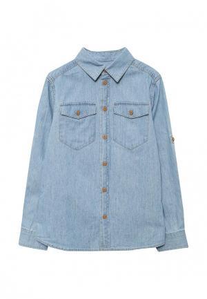 Рубашка джинсовая Button Blue. Цвет: голубой