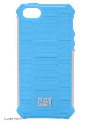 Противоударная защита для iPhone 5/5s Caterpillar. Цвет: голубой