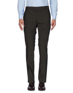 Повседневные брюки JOHN VARVATOS. Цвет: темно-коричневый