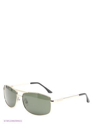 Солнцезащитные очки Polaroid. Цвет: золотистый, зеленый