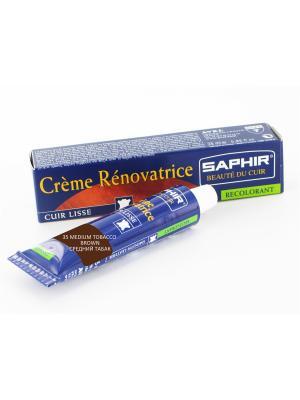 Восстановитель кожи Creme RENOVATRICE, 25 мл. (жидкая кожа)(35 средний табак) Saphir. Цвет: терракотовый