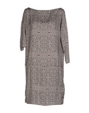 Короткое платье REBEL QUEEN. Цвет: голубиный серый
