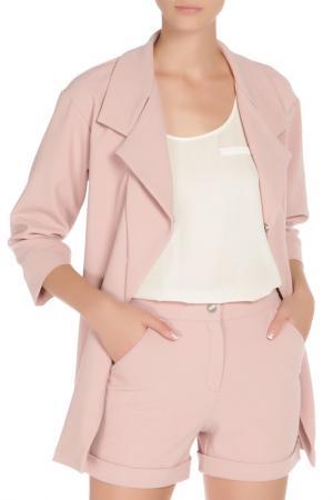 Костюм: жакет и шорты Adzhedo. Цвет: розовый