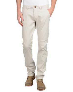 Повседневные брюки REIGN. Цвет: светло-серый
