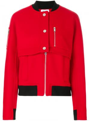 Куртка-бомбер Courrèges. Цвет: красный