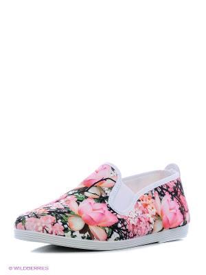 Слипоны FLOSSY STYLE. Цвет: розовый