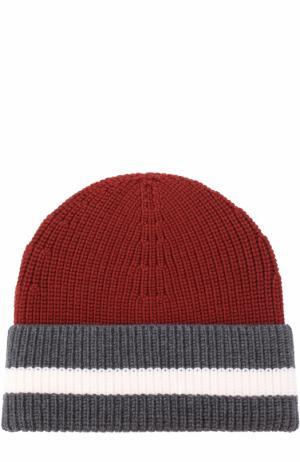 Шерстяная шапка бини Z Zegna. Цвет: красный