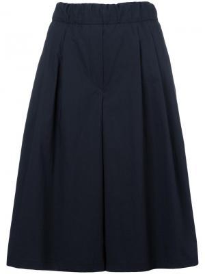 Широкие шорты бермуды Odeeh. Цвет: синий