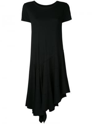 Асимметричное платье Maison Mihara Yasuhiro. Цвет: чёрный