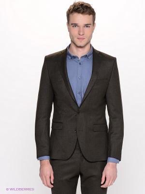 Пиджак SELECTED. Цвет: темно-коричневый