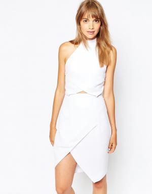 Suboo Платье с запахом. Цвет: белый