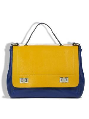 Сумка-портфель AnnA Wolf. Цвет: синий, оранжевый