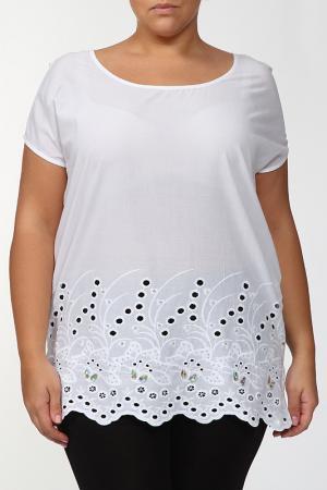 Блузка LA VELINA. Цвет: белый