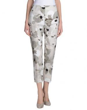 Повседневные брюки METRADAMO. Цвет: светло-серый