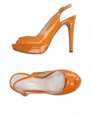Сандалии DEIMILLE. Цвет: оранжевый