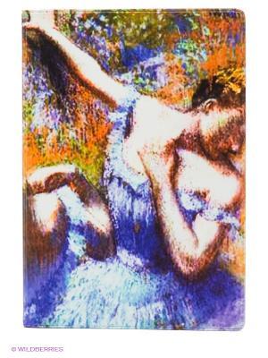 Обложка для автодокументов Дега Mitya Veselkov. Цвет: фиолетовый, светло-зеленый, темно-бордовый