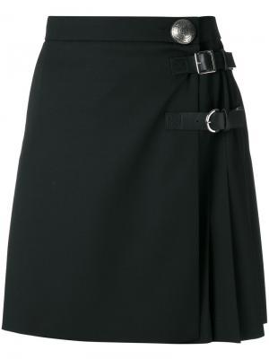 Плиссированная юбка мини Alexander McQueen. Цвет: чёрный