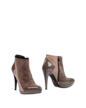 Полусапоги и высокие ботинки LIST. Цвет: хаки