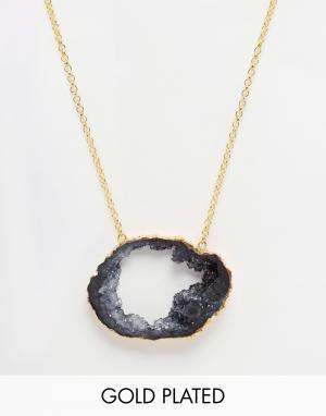 Only Child Ожерелье с подвеской в виде черной тучи. Цвет: серый