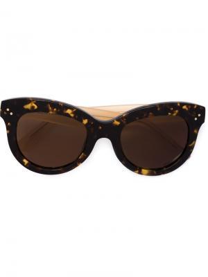 Солнцезащитные очки Julia Krewe Du Optic. Цвет: коричневый