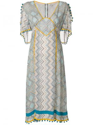 Платье с принтом Maghreb Talitha. Цвет: белый
