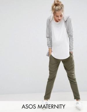 ASOS Maternity Тканые брюки‑галифе для беременных. Цвет: зеленый