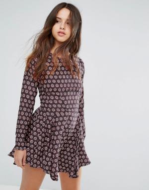 Louche Платье с принтом Billie. Цвет: мульти