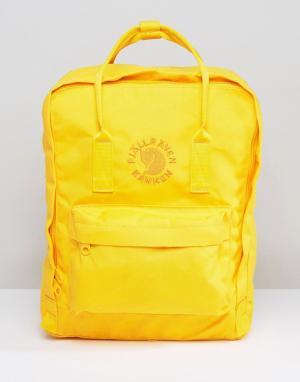 Fjallraven Желтый рюкзак объемом 16 литров Re-Kanken. Цвет: желтый