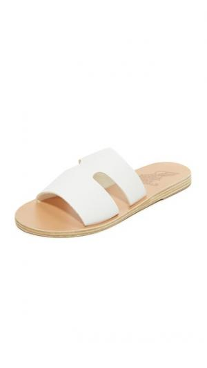 Сандалии без застежки Apteros Ancient Greek Sandals. Цвет: белый