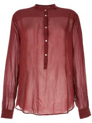 Рубашка с воротником-стойкой Forte. Цвет: красный