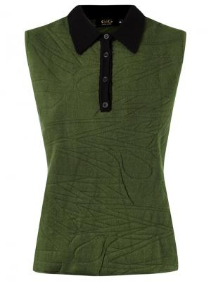 Sleeveless polo shirt Gig. Цвет: зелёный