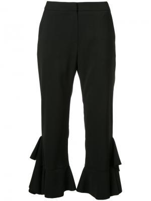 Расклешенные брюки с оборочной отделкой Goen.J. Цвет: чёрный