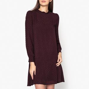Платье жаккардовое IKKS. Цвет: бордовый,черный
